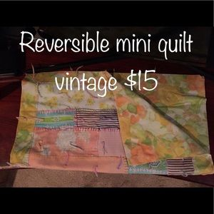 Other - Reversible vintage baby quilt. Newborn photography